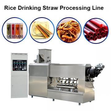 Three colour co-extrude straw extruder machine