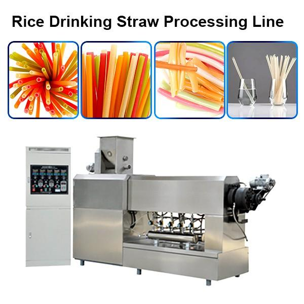Automatic two colors straight PP PE plastic drinking straw extruder