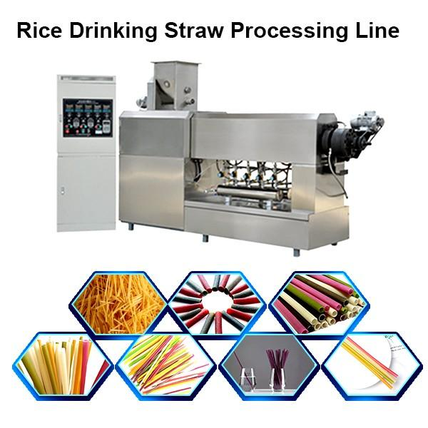 Drinking straw machine, drinking straw extruder, drinking straw bending machine